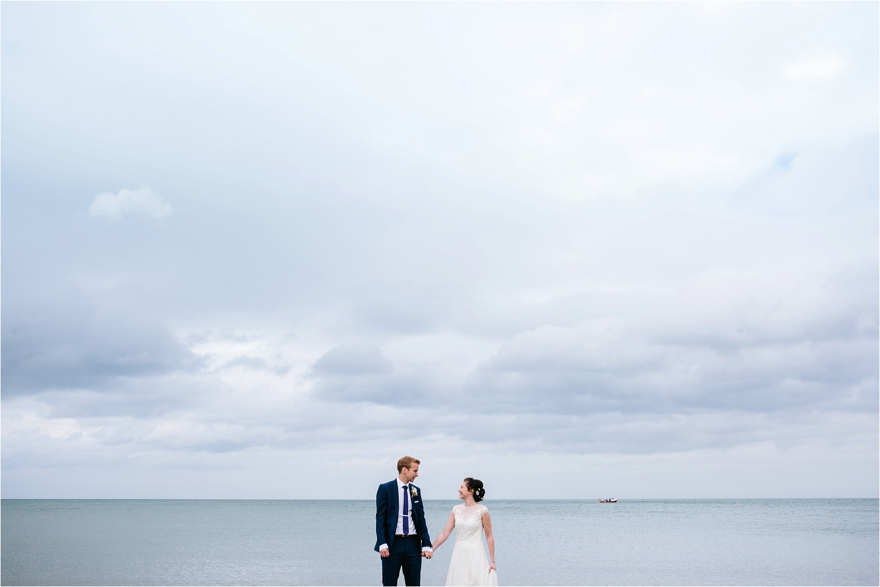 bride and groom ballygally beach