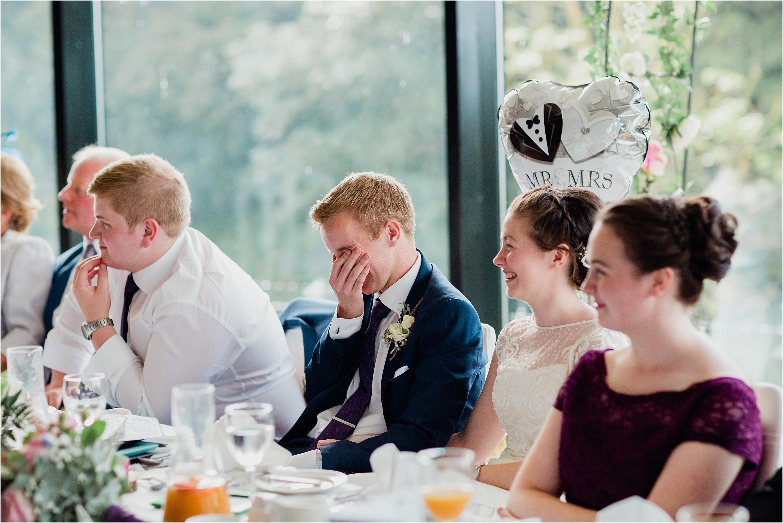 wedding speech bride and groom laughter