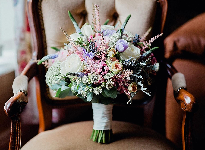 bridal bouquet, ballygally wedding
