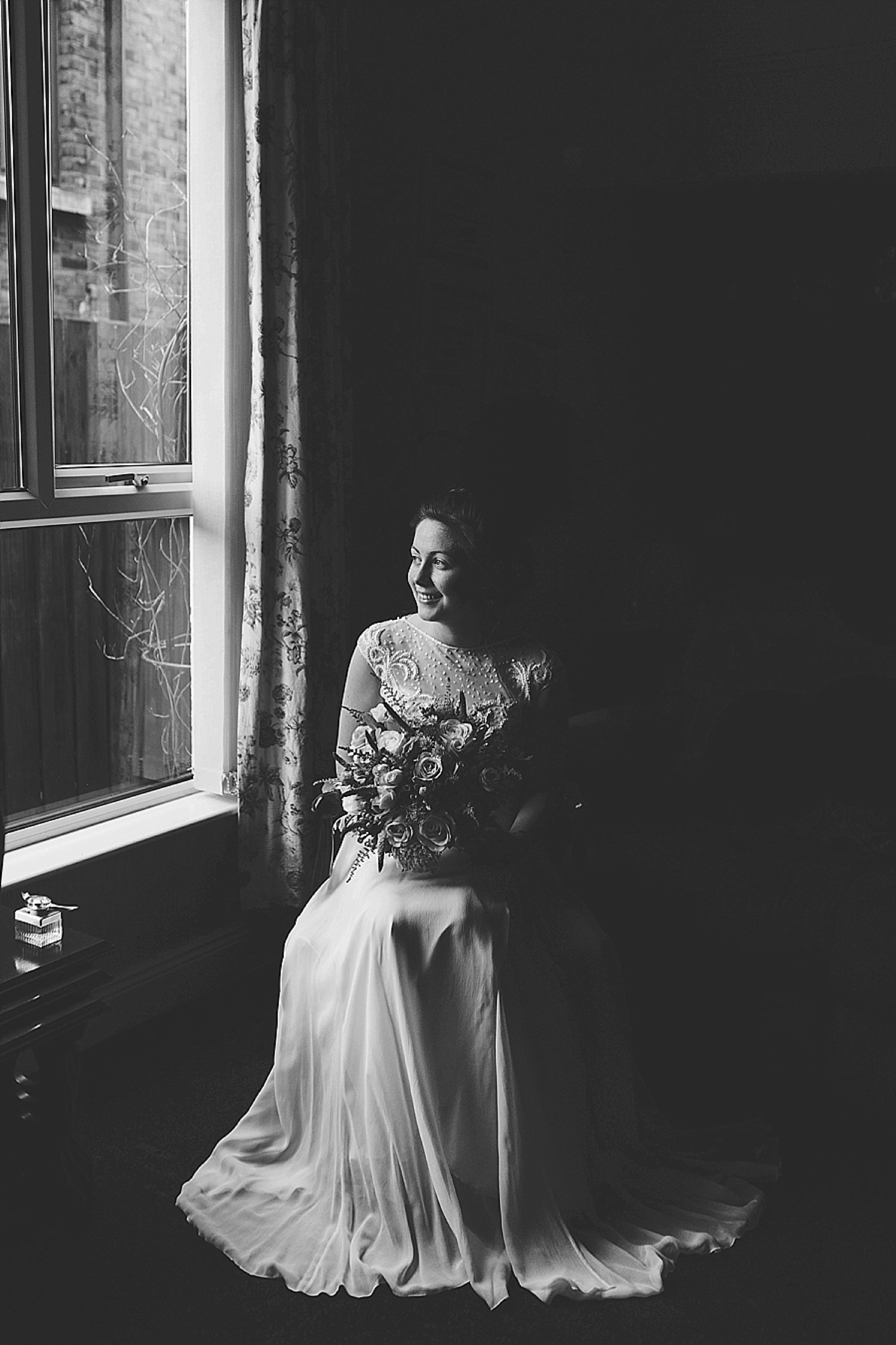 bridal portrait, bride portrait