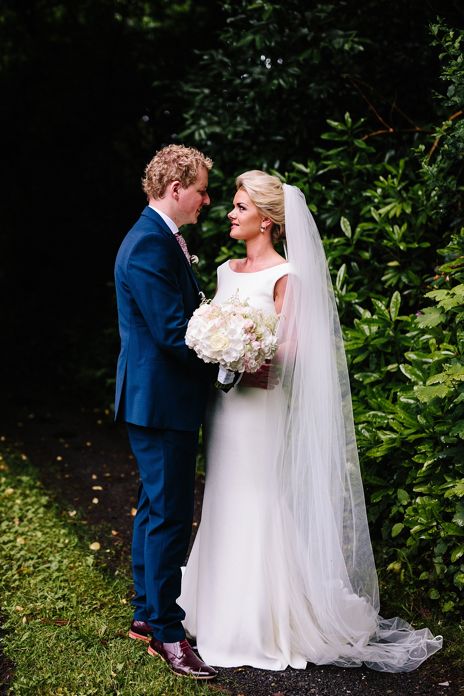 bride and groom pronovias wedding dress, lough eske wedding
