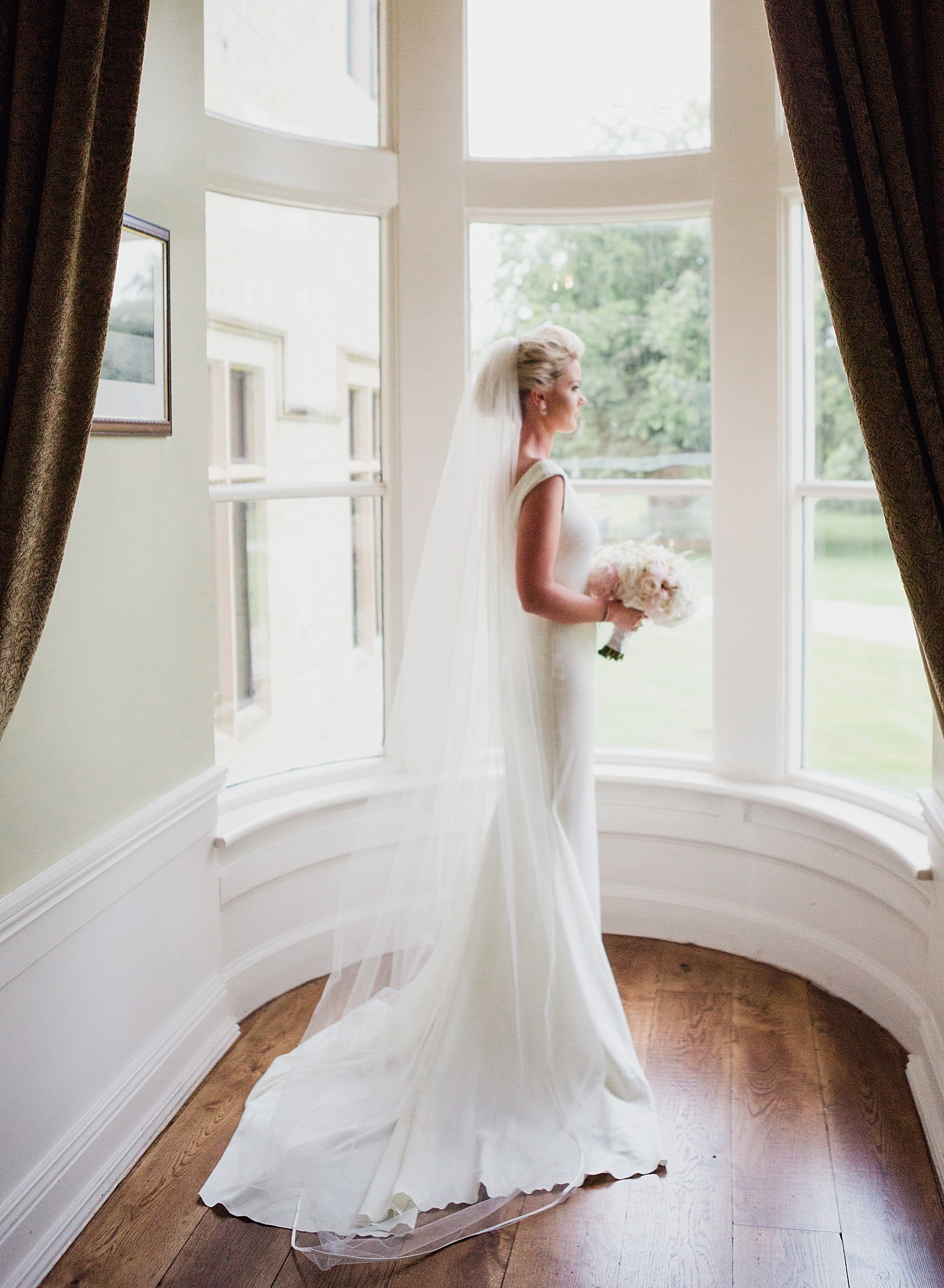bride pronovias wedding dress, lough eske wedding