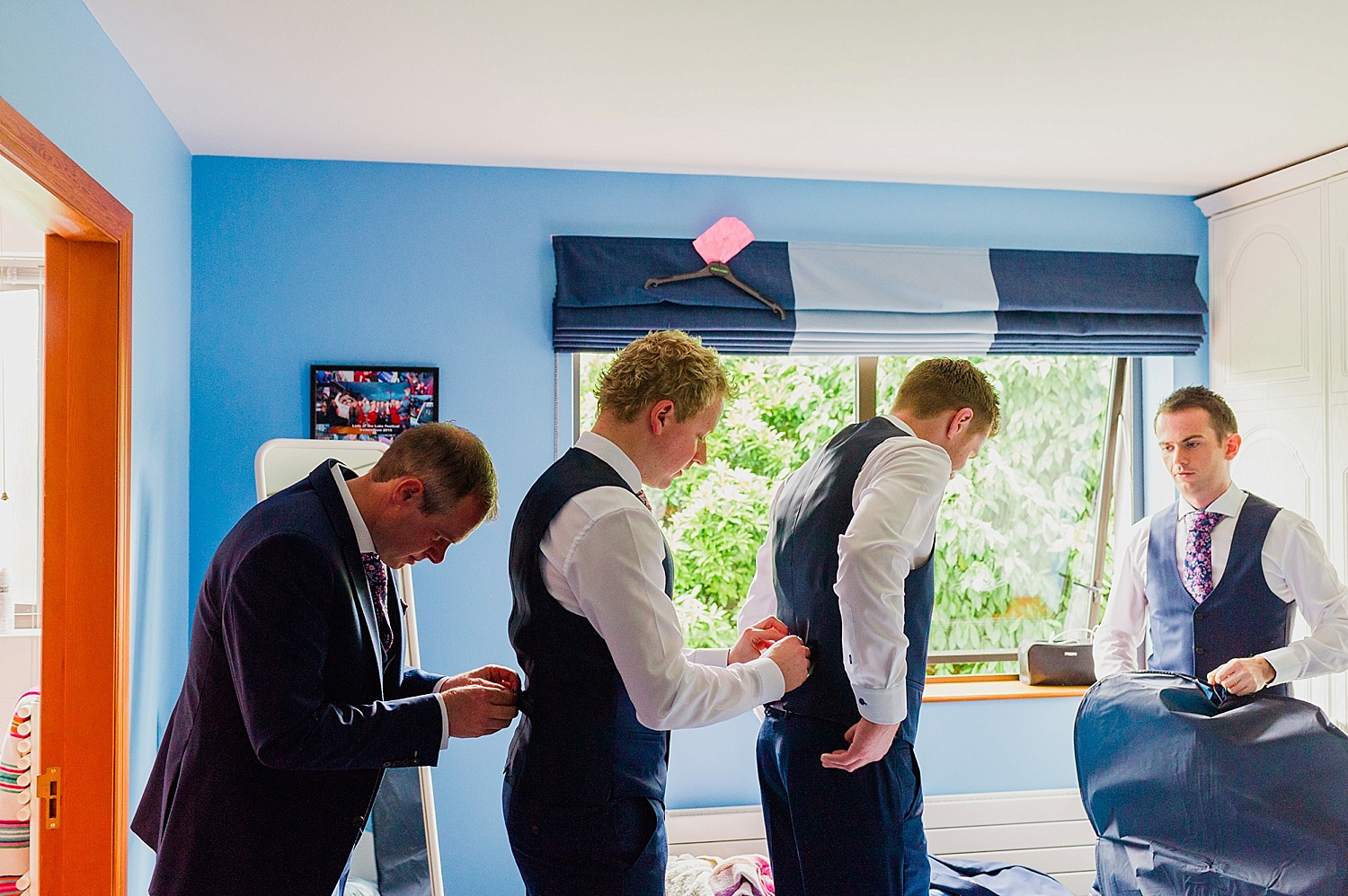 groom prep lough eske wedding
