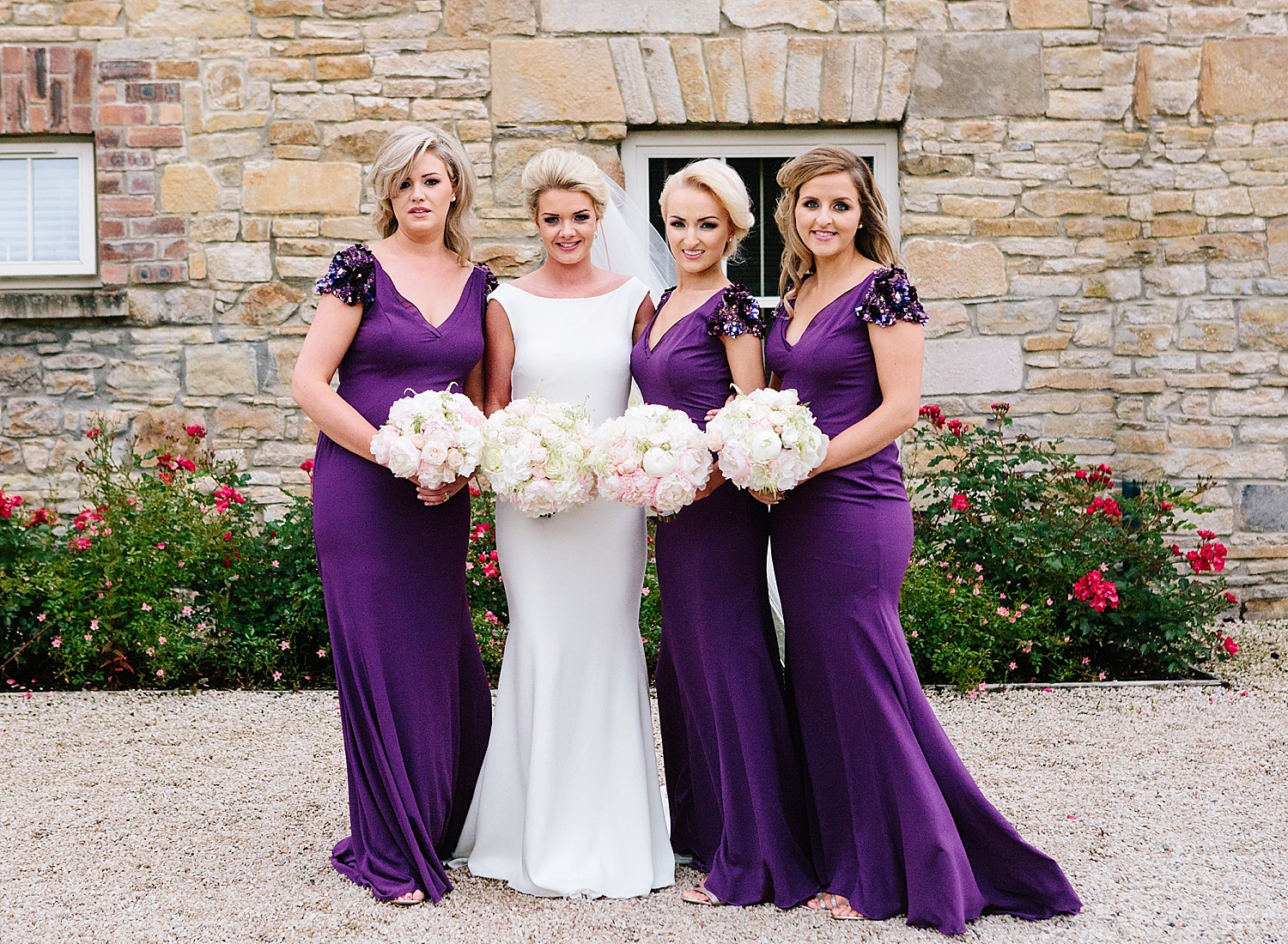 pronovias bridesmaid dresses, lough eske wedding
