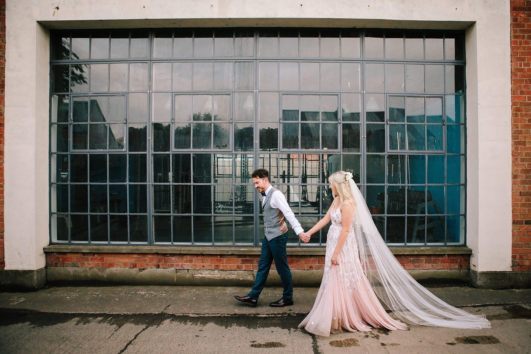 pink pastle wedding dress