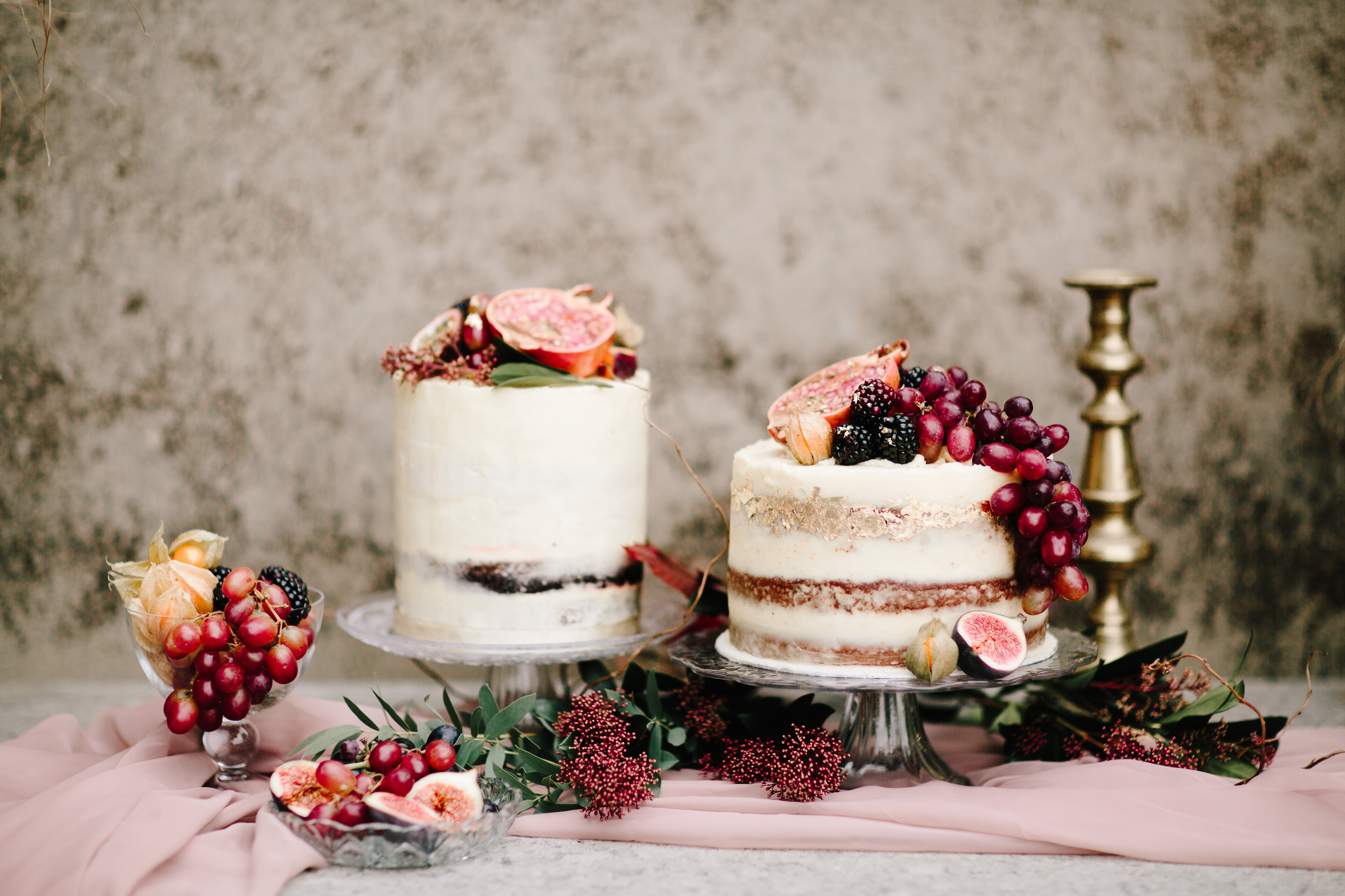 wedding cake dresses with grapes
