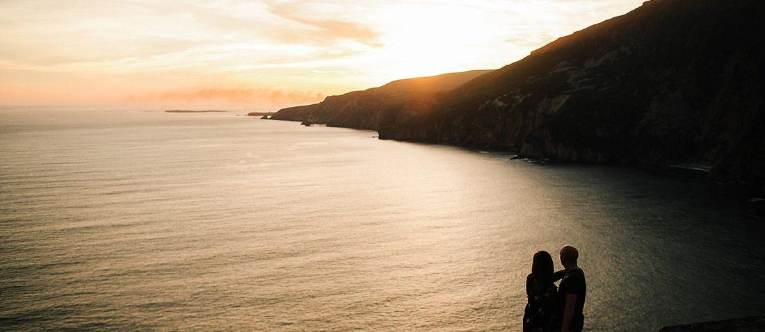 Sunset over Slieve League Cliffs Donegal