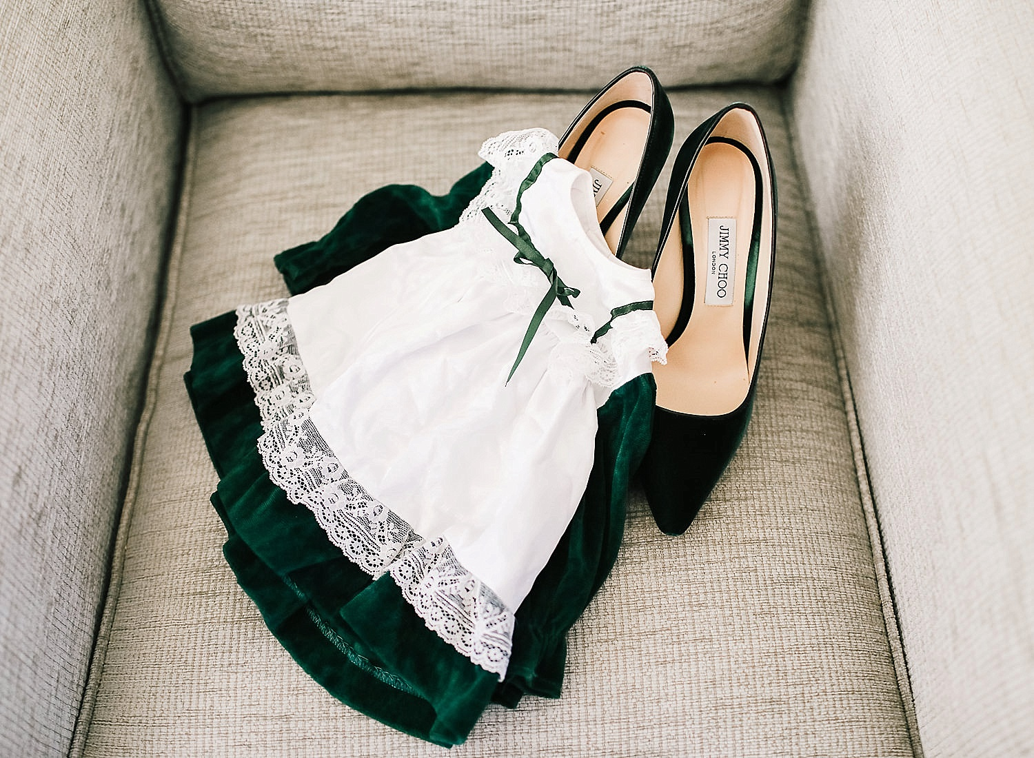 green velvet Jimmy Choo Shoes