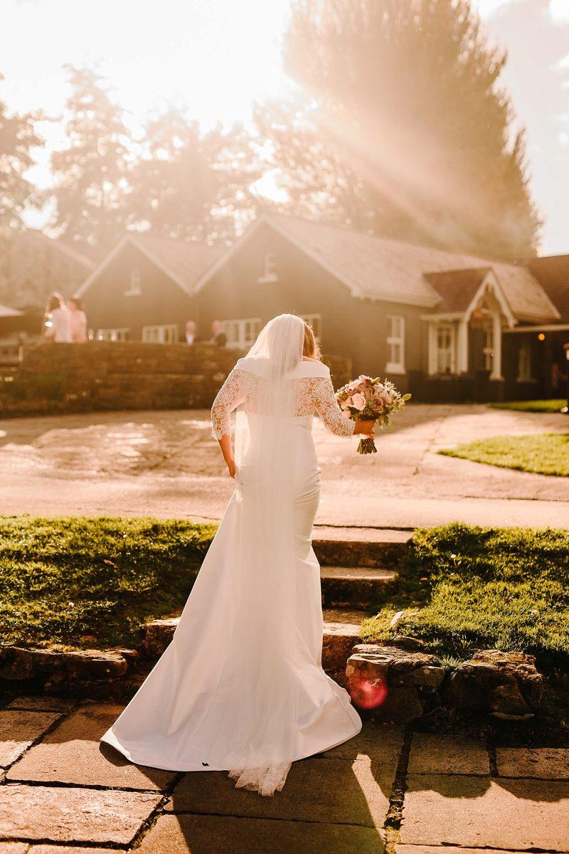 bride at Lusty Beg Island in Ireland
